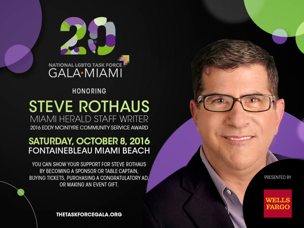 2016 Task Force Gala Honoree Steve Rothaus